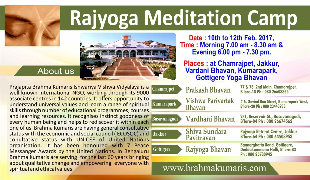 1Rajyoga Meditation Camp
